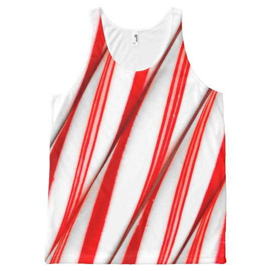 Funky Chrstmas Candy Canes All-Over-Print Tank Top