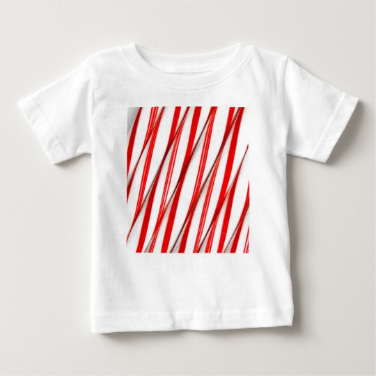 Funky Chrstmas Candy Canes Baby T-Shirt