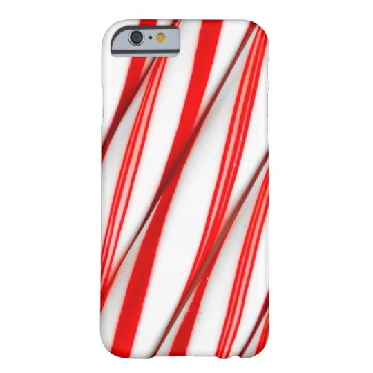 Funky Chrstmas Candy Canes Barely There iPhone 6 Case