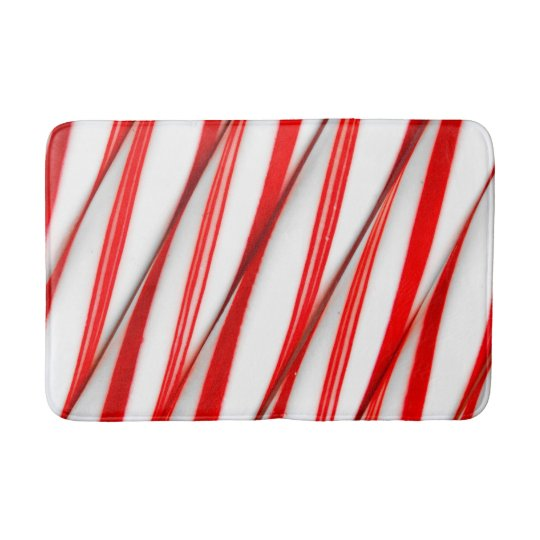 Funky Chrstmas Candy Canes Bath Mat