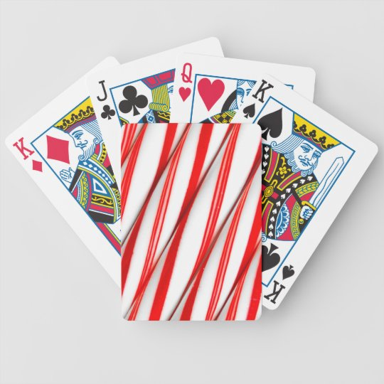 Funky Chrstmas Candy Canes Bicycle Playing Cards