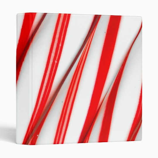 Funky Chrstmas Candy Canes Binders