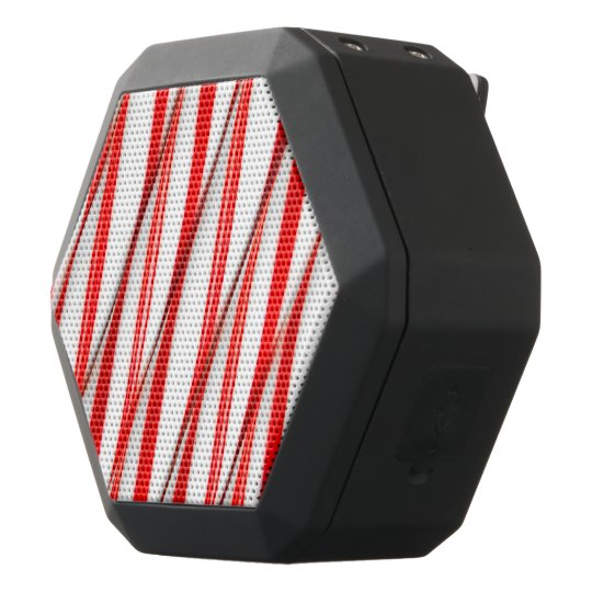 Funky Chrstmas Candy Canes Black Bluetooth Speaker