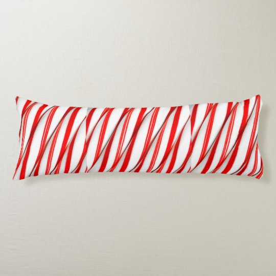 Funky Chrstmas Candy Canes Body Pillow
