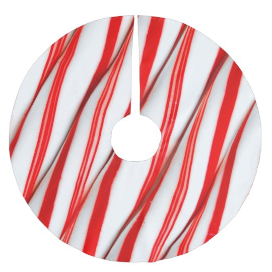 Funky Chrstmas Candy Canes Brushed Polyester Tree Skirt