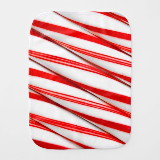 Funky Chrstmas Candy Canes Burp Cloth