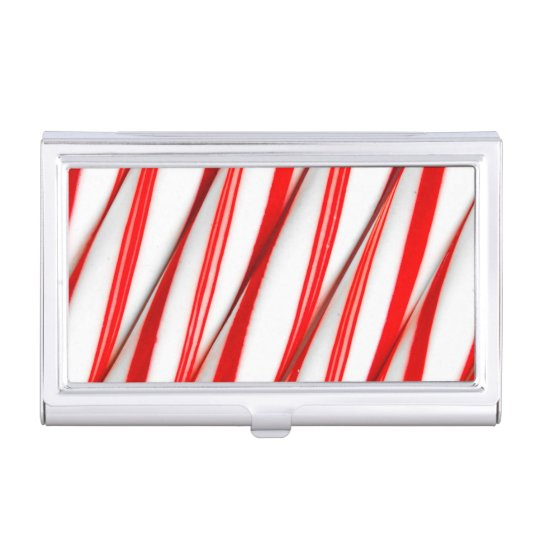 Funky Chrstmas Candy Canes Business Card Holder