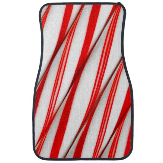 Funky Chrstmas Candy Canes Car Mat
