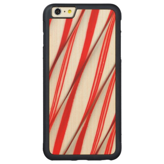Funky Chrstmas Candy Canes Carved Maple iPhone 6 Plus Bumper Case