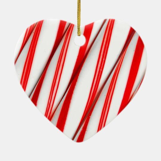 Funky Chrstmas Candy Canes Ceramic Ornament