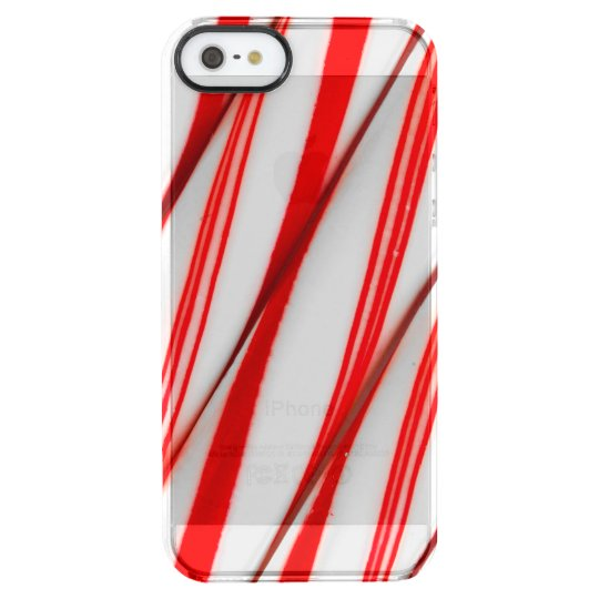 Funky Chrstmas Candy Canes Clear iPhone SE/5/5s Case