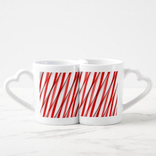 Funky Chrstmas Candy Canes Coffee Mug Set