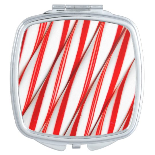 Funky Chrstmas Candy Canes Compact Mirrors