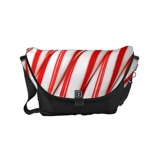 Funky Chrstmas Candy Canes Courier Bag