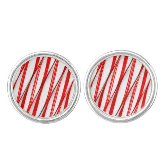 Funky Chrstmas Candy Canes Cufflinks