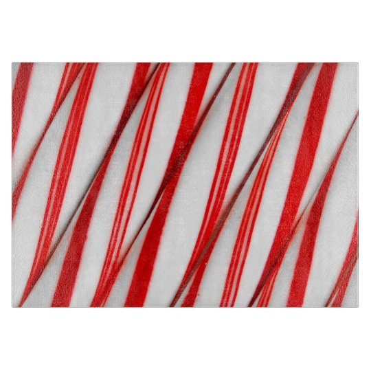 Funky Chrstmas Candy Canes Cutting Board