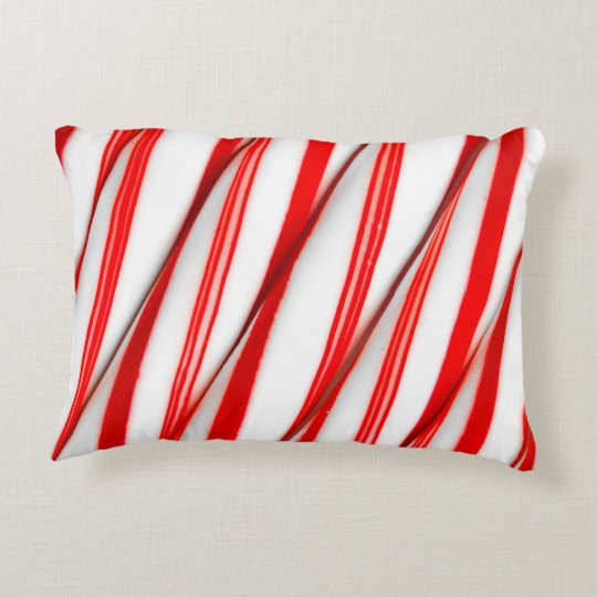 Funky Chrstmas Candy Canes Decorative Pillow