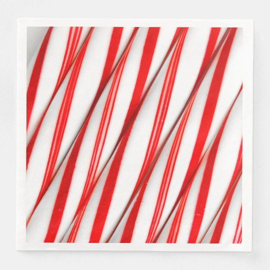 Funky Chrstmas Candy Canes Disposable Napkin