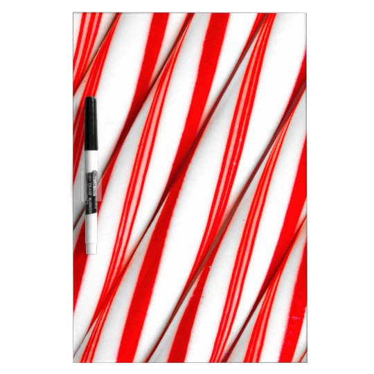 Funky Chrstmas Candy Canes Dry Erase Board