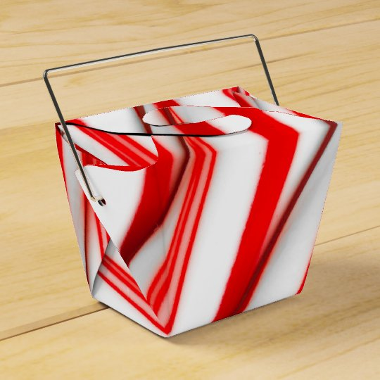Funky Chrstmas Candy Canes Favor Box
