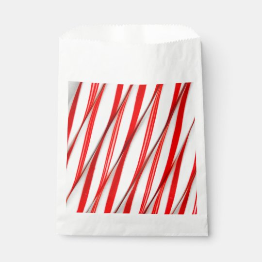 Funky Chrstmas Candy Canes Favour Bag