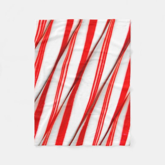 Funky Chrstmas Candy Canes Fleece Blanket