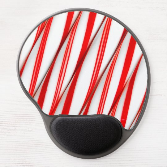 Funky Chrstmas Candy Canes Gel Mouse Pad