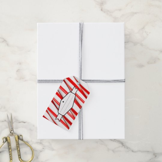 Funky Chrstmas Candy Canes Gift Tags