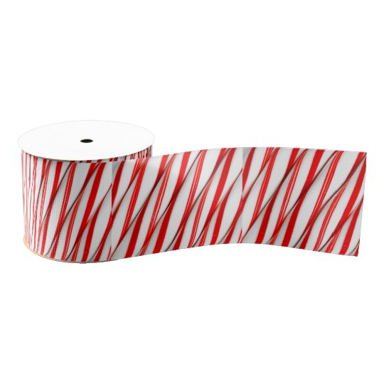 Funky Chrstmas Candy Canes Grosgrain Ribbon