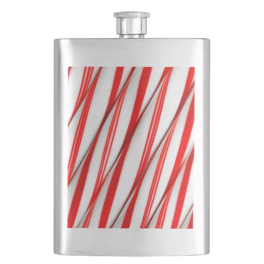 Funky Chrstmas Candy Canes Hip Flask