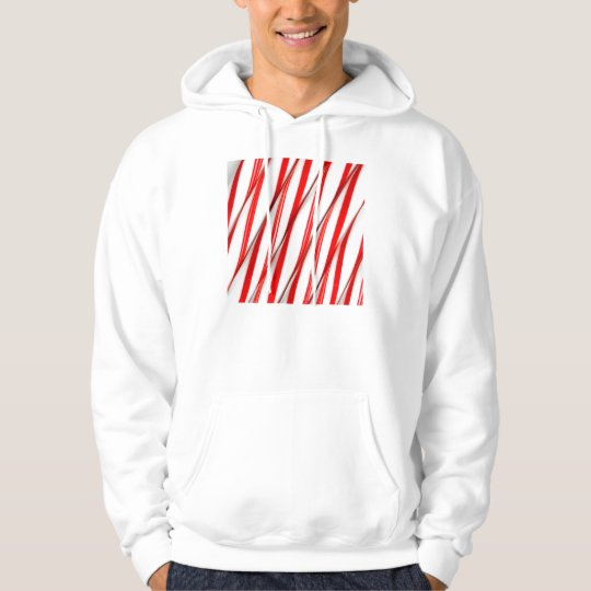 Funky Chrstmas Candy Canes Hoodie