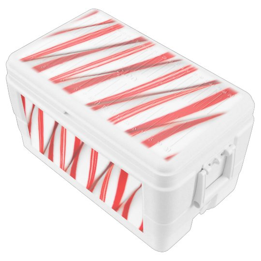 Funky Chrstmas Candy Canes Ice Chest