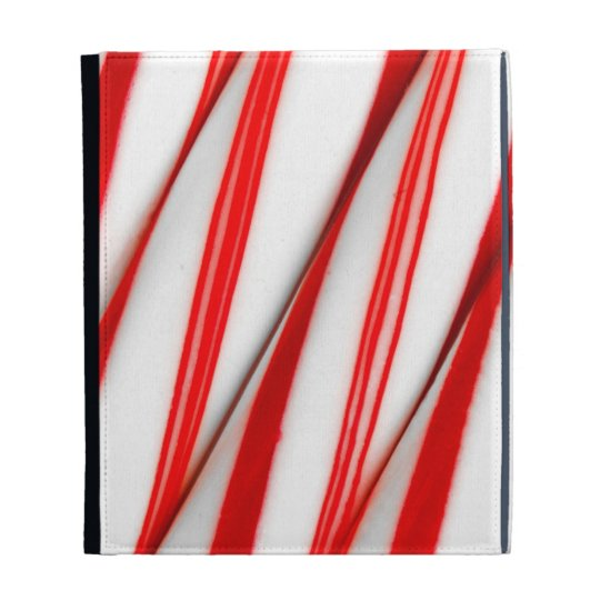 Funky Chrstmas Candy Canes iPad Folio Case
