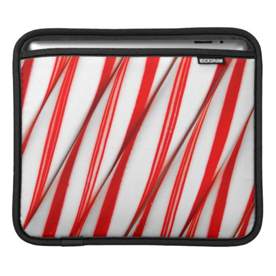 Funky Chrstmas Candy Canes iPad Sleeve