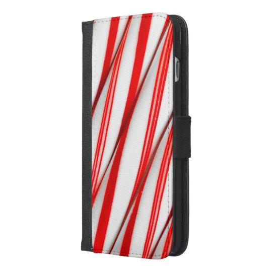 Funky Chrstmas Candy Canes iPhone 6/6s Plus Wallet Case