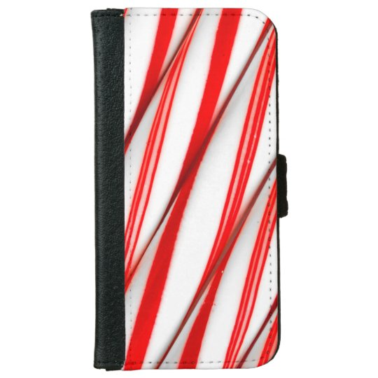 Funky Chrstmas Candy Canes iPhone 6 Wallet Case