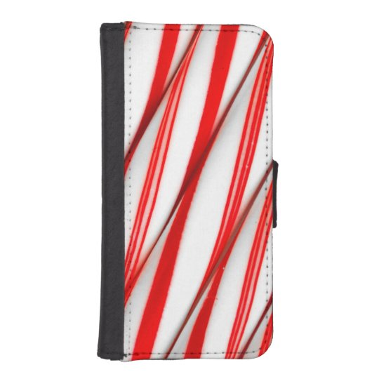 Funky Chrstmas Candy Canes iPhone SE/5/5s Wallet Case