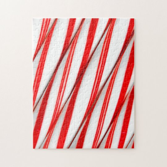 Funky Chrstmas Candy Canes Jigsaw Puzzle