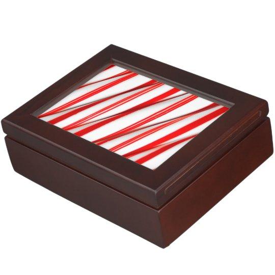 Funky Chrstmas Candy Canes Keepsake Box