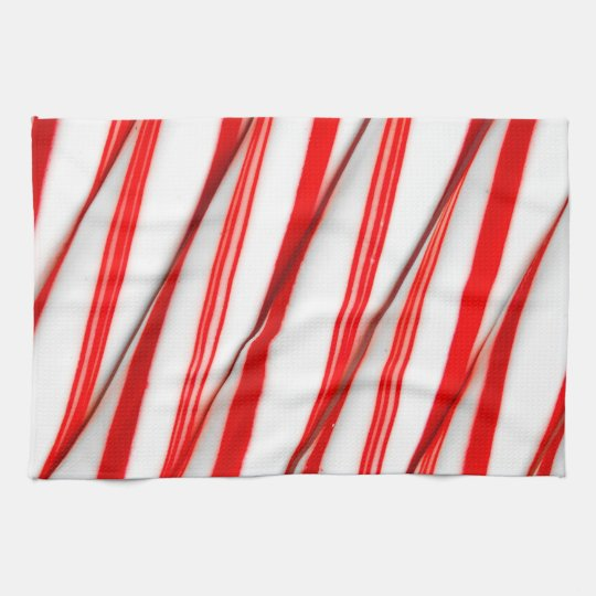 Funky Chrstmas Candy Canes Kitchen Towel