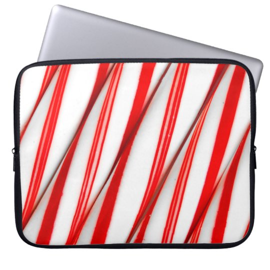 Funky Chrstmas Candy Canes Laptop Sleeve