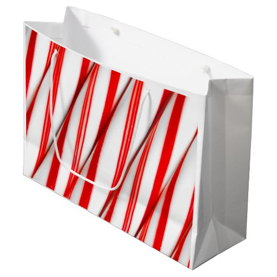 Funky Chrstmas Candy Canes Large Gift Bag