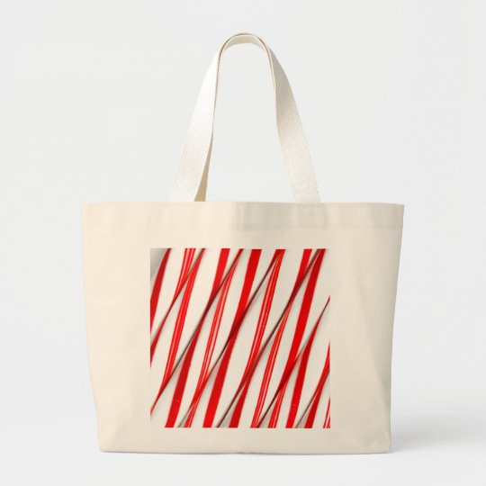 Funky Chrstmas Candy Canes Large Tote Bag