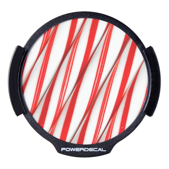 Funky Chrstmas Candy Canes LED Window Decal