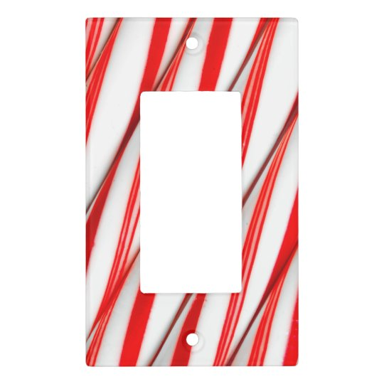 Funky Chrstmas Candy Canes Light Switch Cover
