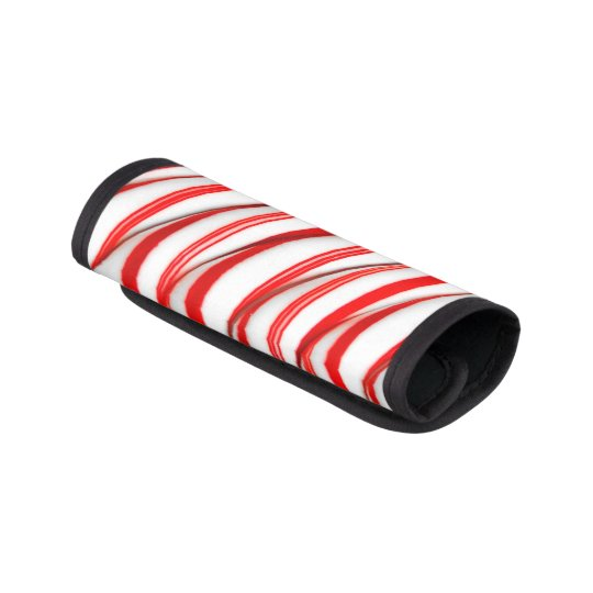 Funky Chrstmas Candy Canes Luggage Handle Wrap