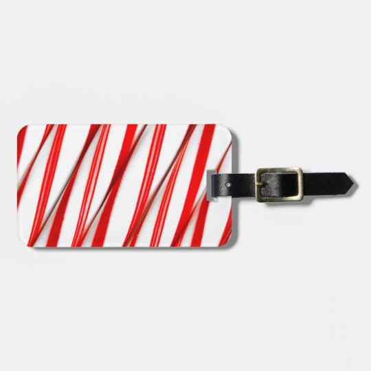 Funky Chrstmas Candy Canes Luggage Tag