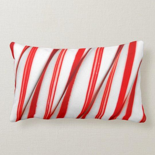 Funky Chrstmas Candy Canes Lumbar Pillow