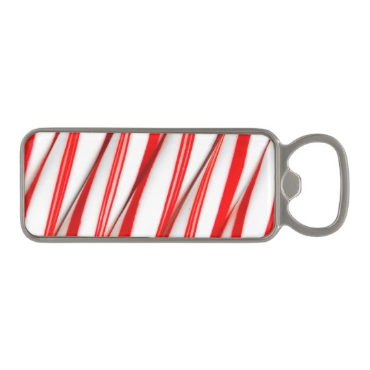 Funky Chrstmas Candy Canes Magnetic Bottle Opener