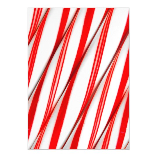Funky Chrstmas Candy Canes Magnetic Card
